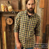 Stampe e Ricami Personalizzati su Camicia Uomo Manica Lunga Quadri Moda Premier