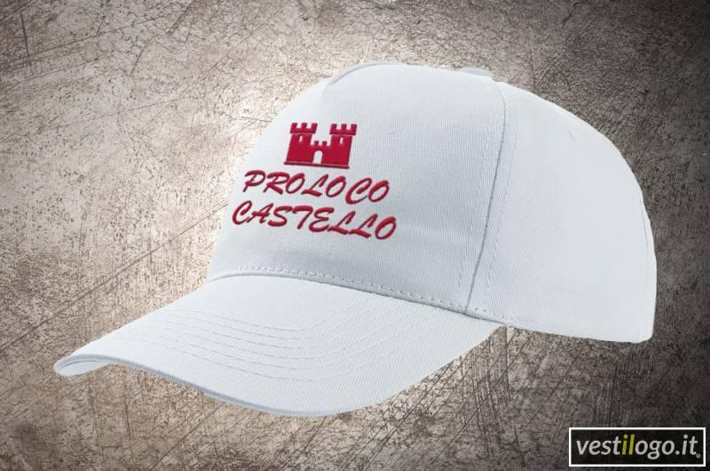 Cappellino bianco con ricamo su fronte - Vestilogo 35000e76fd98