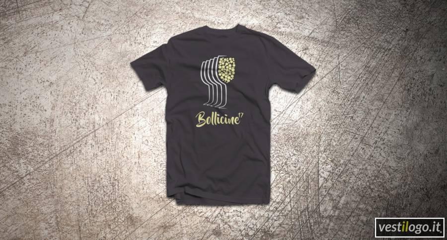 T-shirt colorata classica con stampa 2 colori