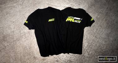 Tshirt racing con stampe fluorescenti