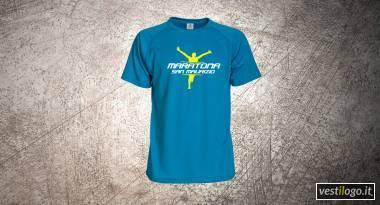 Tshirt sportiva in poliestere promozione