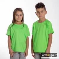 Stampe e Ricami Personalizzati su T-shirt Sport Manica Corta Bambino Sprintex