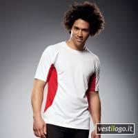 Stampe e Ricami Personalizzati su T-shirt Sport Manica Corta Bicolore James∋cholson